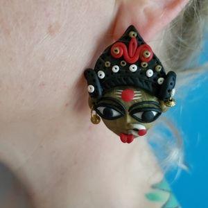 """Kali/Durga Posts (modeling clay, 2.25"""")"""